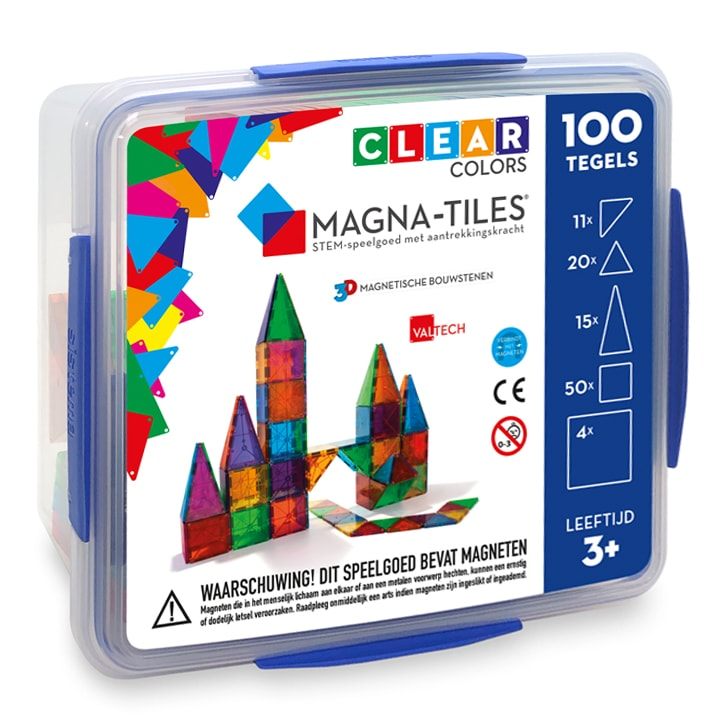 Magna-Tiles 100 in opbergbox