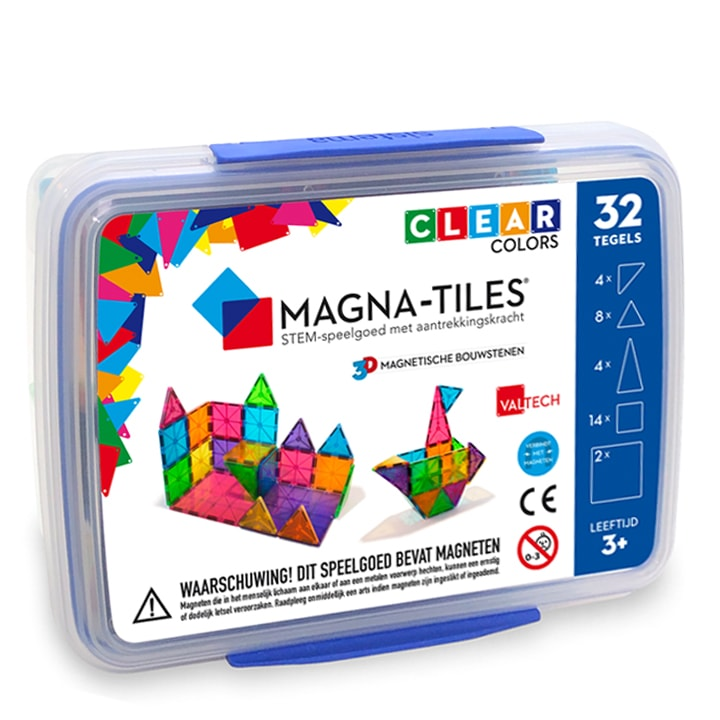 Magna-Tiles 32 in opbergbox