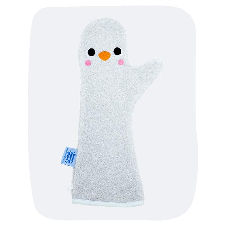 Baby Shower Glove Blauwe Pinguïn