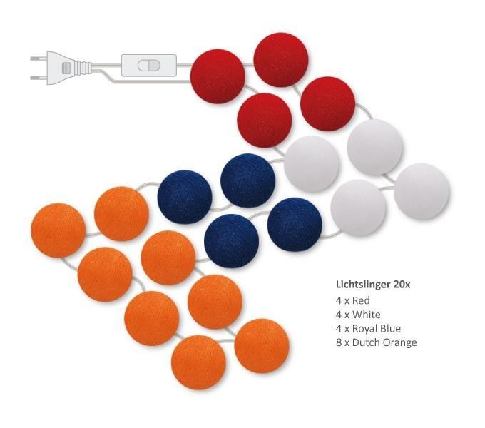 "Cotton Ball Lights Lichtslinger ""Oranje"""