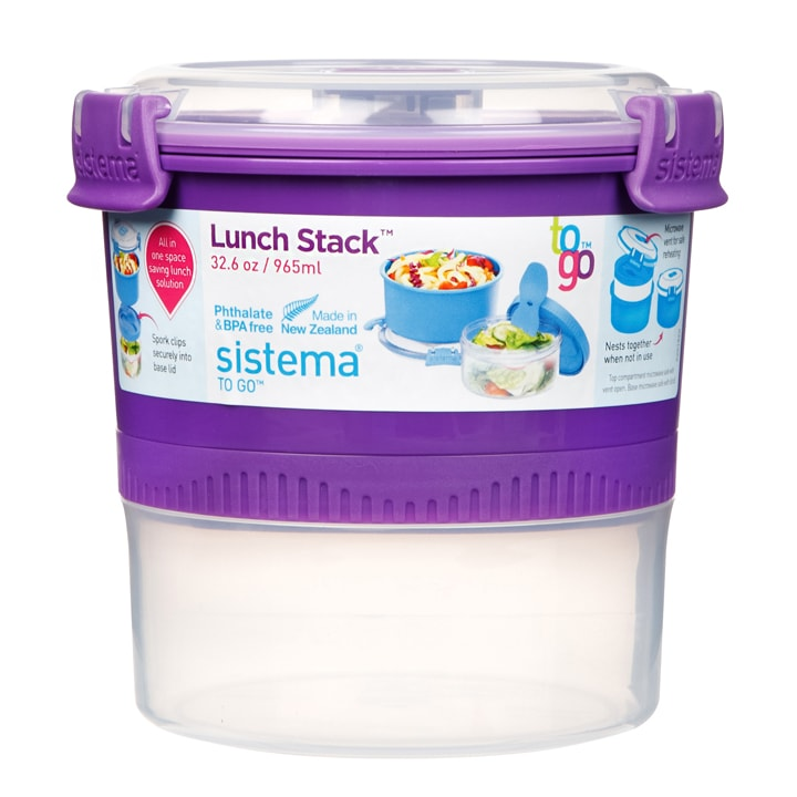 Sistema To Go Lunch Stack 965ml Paars