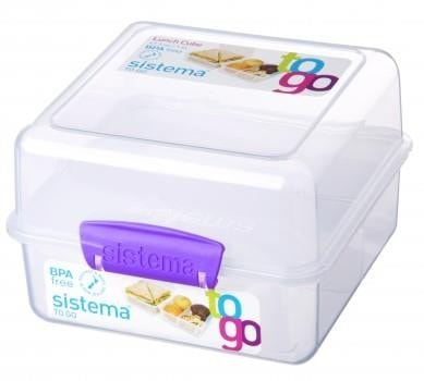 Sistema Lunch Cube to Go paars