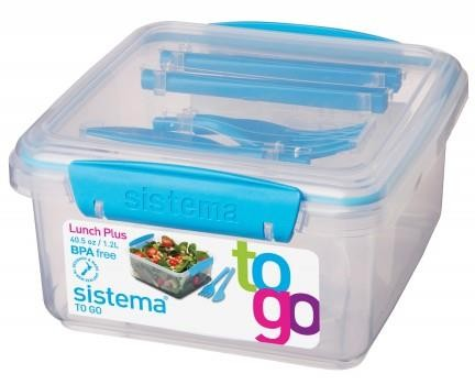 Sistema Lunch Plus to Go blauw