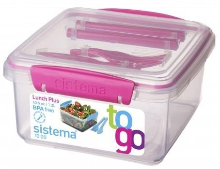 Sistema Lunch Plus to Go roze