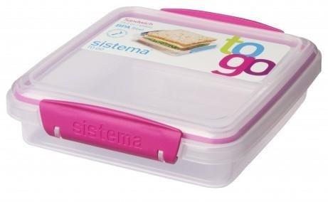 Sistema Sandwich Box To Go - Roze