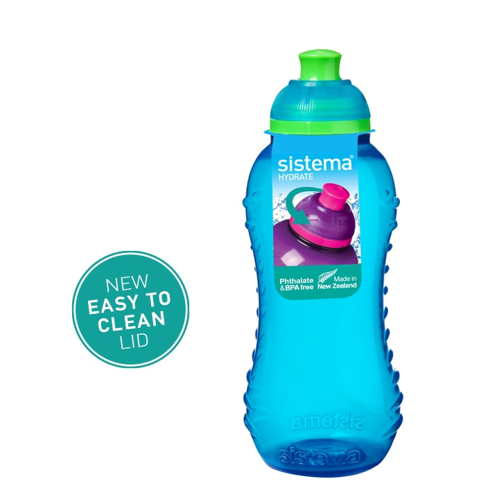 Sistema Squeeze flesje 330ml Blauw