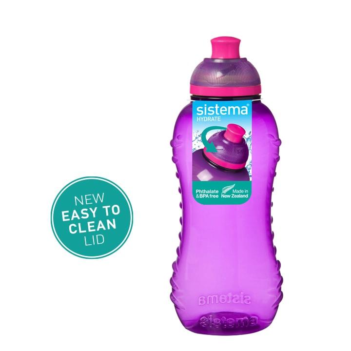 Sistema Squeeze flesje 330ml Paars