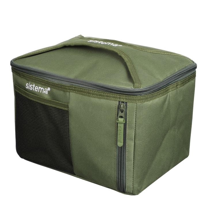 Sistema To Go Mega Fold Up Cooler Bag Army Green