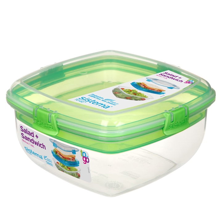 Sistema To Go Salad + Sandwich 1630ml Groen
