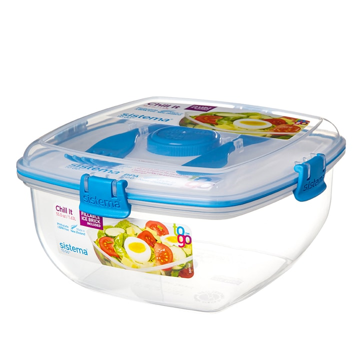 Sistema To Go Chill It Saladebox 1.630ml Blauw