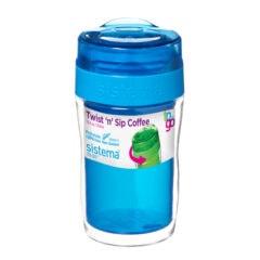 Sistema To Go Twist 'n Sip Coffee isoleerbeker 315ml Blauw