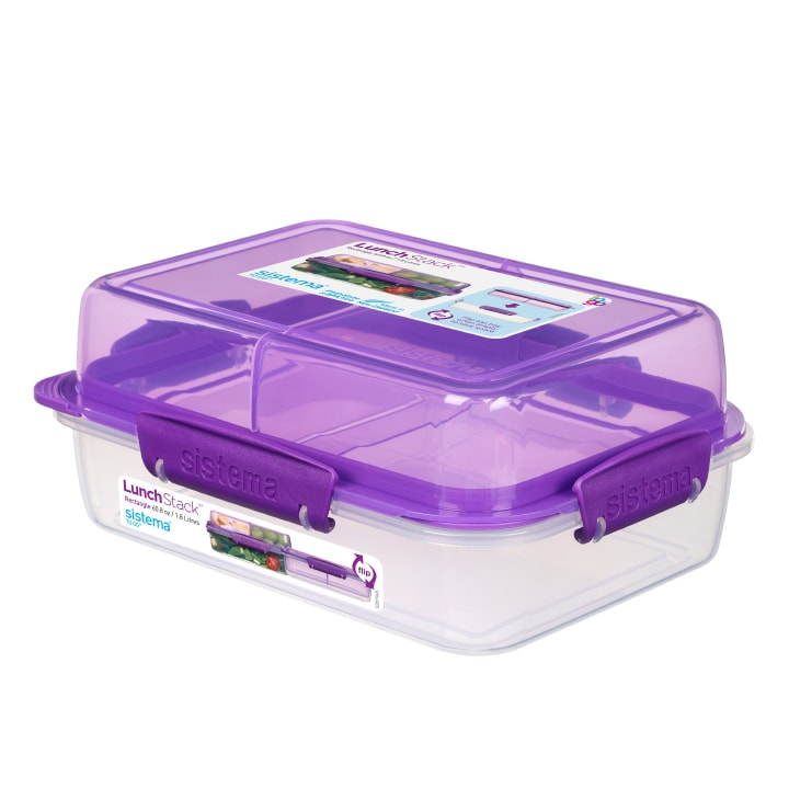 Sistema To Go Lunch Stack Rectangle 1800ml Paars