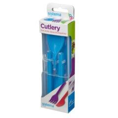 Sistema To Go Cutlery Bestekset 5-delig Blauw