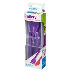 Sistema To Go Cutlery Bestekset 5-delig Paars