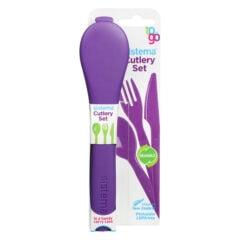Sistema To Go Cutlery Set 3-delig Bestek Paars