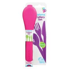 Sistema To Go Cutlery Set 3-delig Bestek Roze