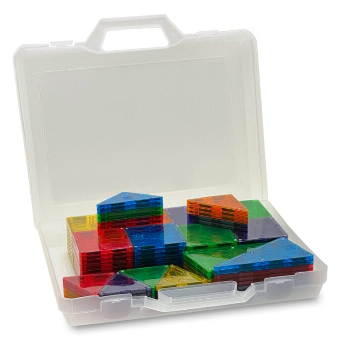 Magna-Tiles Clear Colors 100 in bewaarkoffer