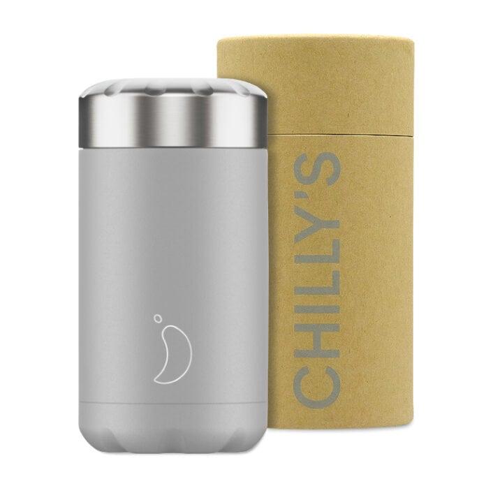 Chilly's Food Pot Isoleerbeker 500ml Monochrome Light Grey